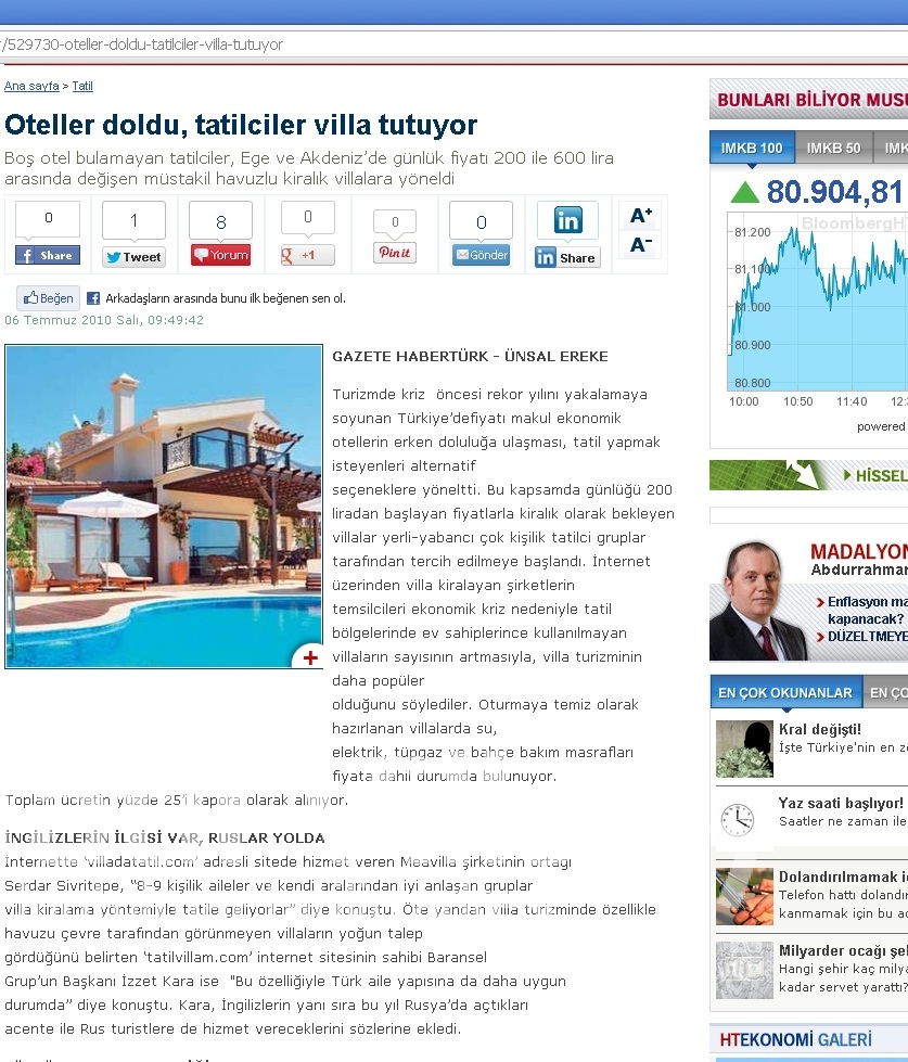 2018 Aralik ayinda haberler.com sitesinde cikan haberimiz